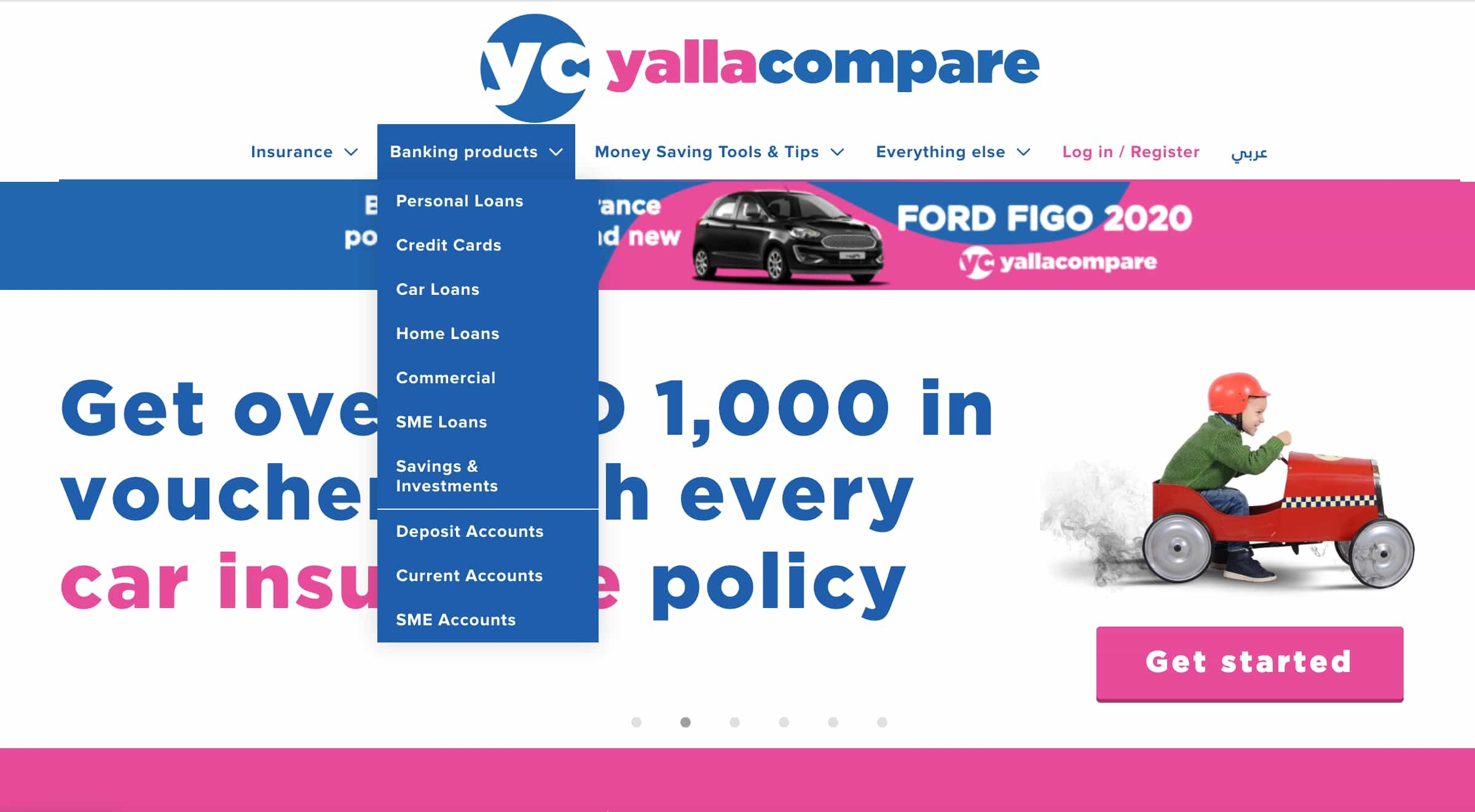 Yallacompare Banking Products