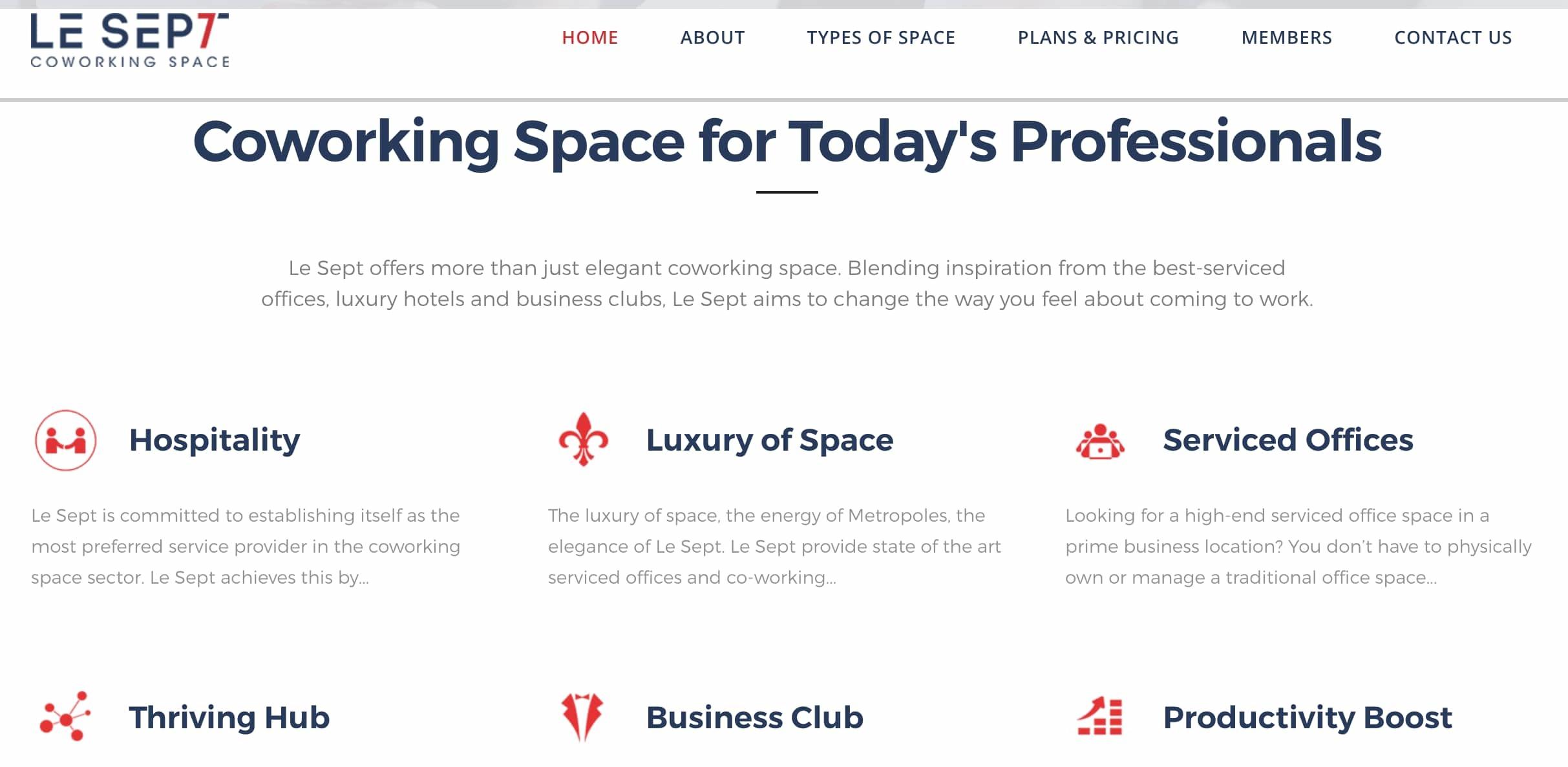 Le Sept Coworking space dubai