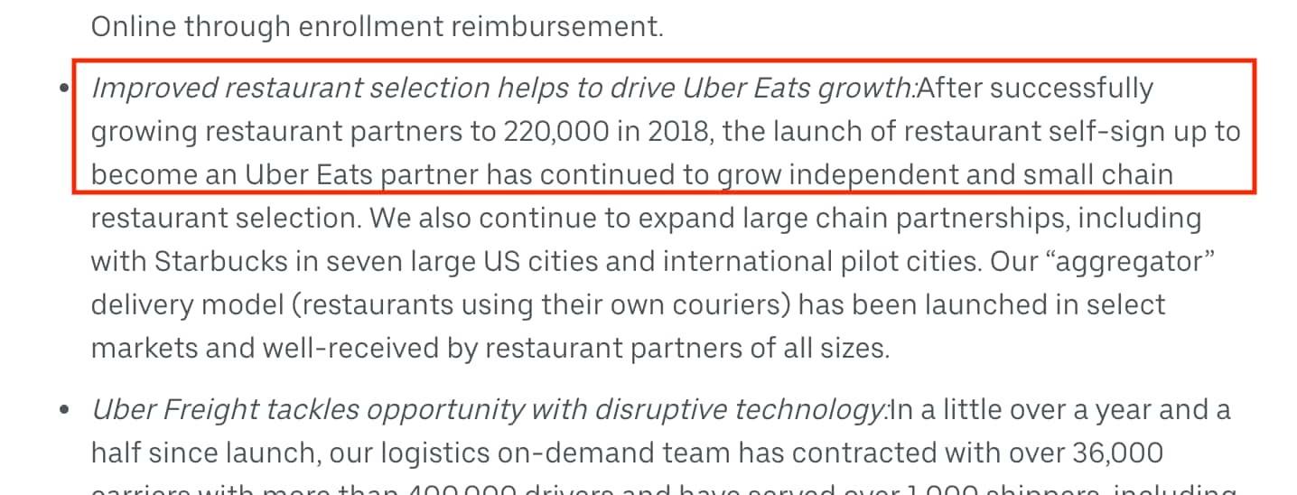 Uber Eats Restaurant Network Growth