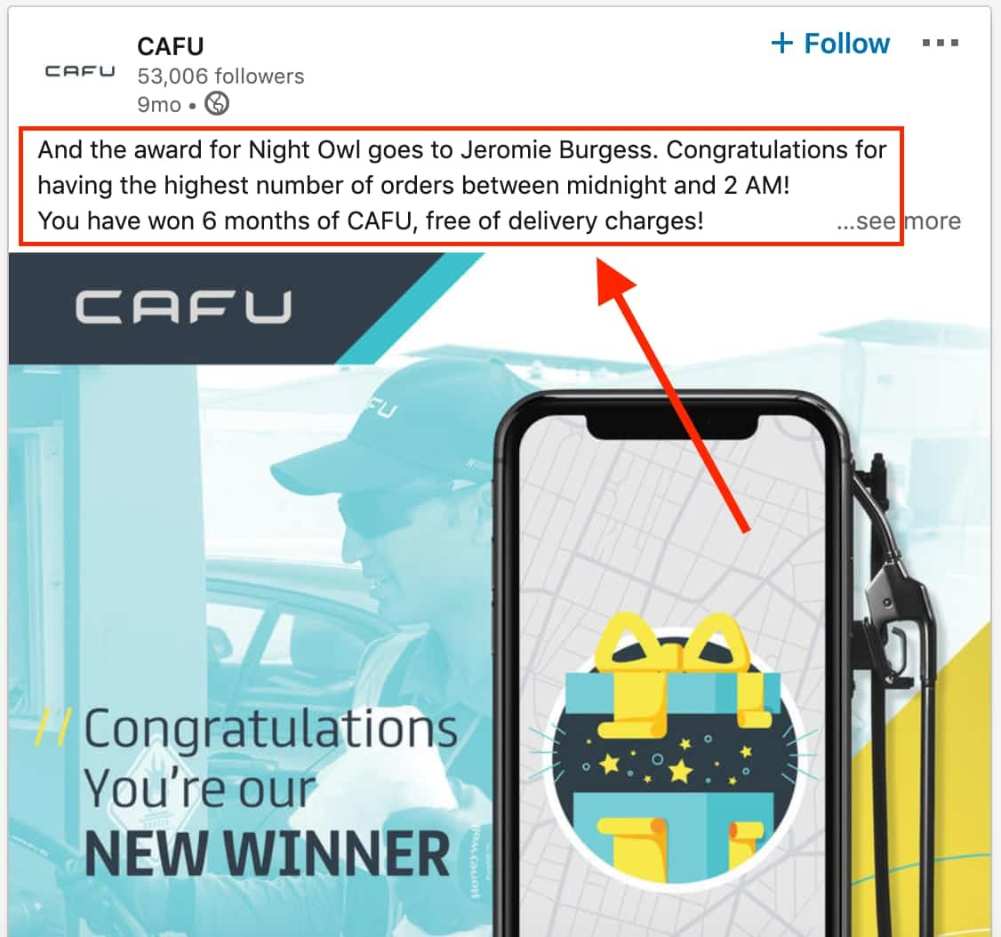 Cafu User Engagement