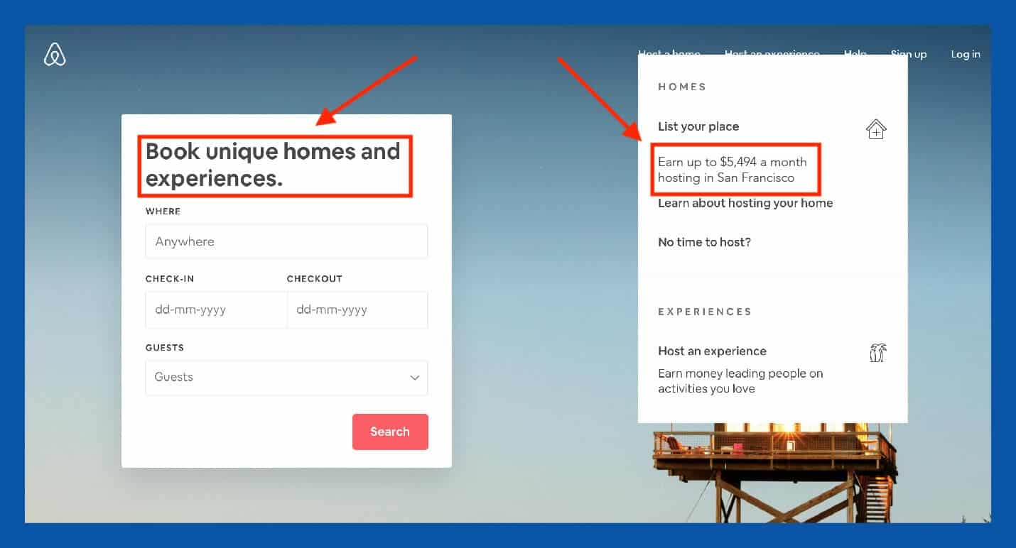 Airbnb value proposition design