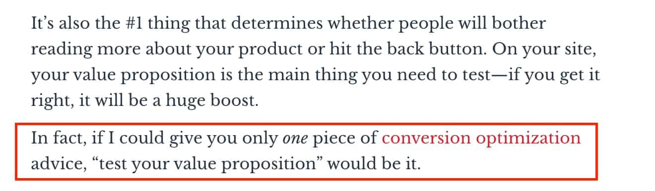 Value proposition design and conversions